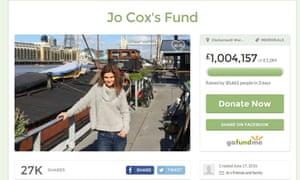 The Jo Cox memorial fund web page
