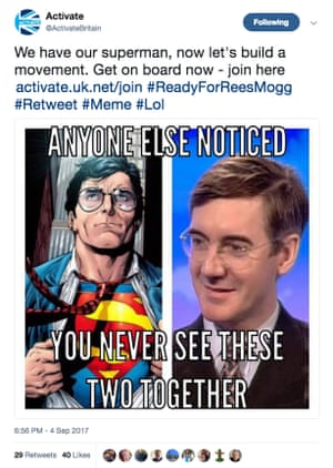 Activate compare Jacob Rees-Mogg to Superman
