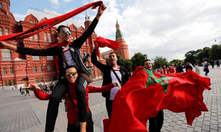 Morocco fans in Moscow