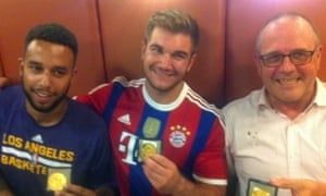 Anthony Sadler, Alek Skarlatos and Briton Chris Norman after the attack on the train.