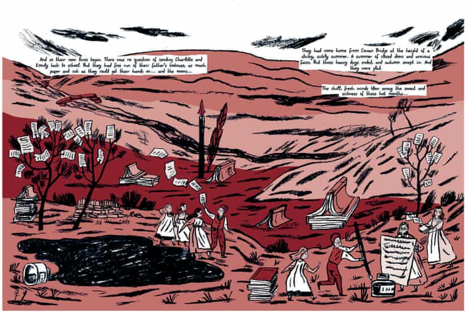 A page from Isabel Greenberg's Glass Town
