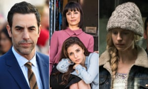 Out of the blue … (from left) Sacha Baron Cohen, UnReal, and Brit Marling in The OA