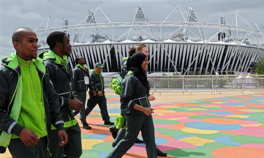 G4S security workers at Olympic Park in London