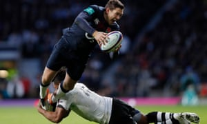 Alex Goode played for England against Fiji in November, one of three starts in the past two years for the Saracens full-back