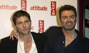 George Michael and his then partner Kenny Goss arrive for Attitude magazine's 10th birthday party in London in 2004.