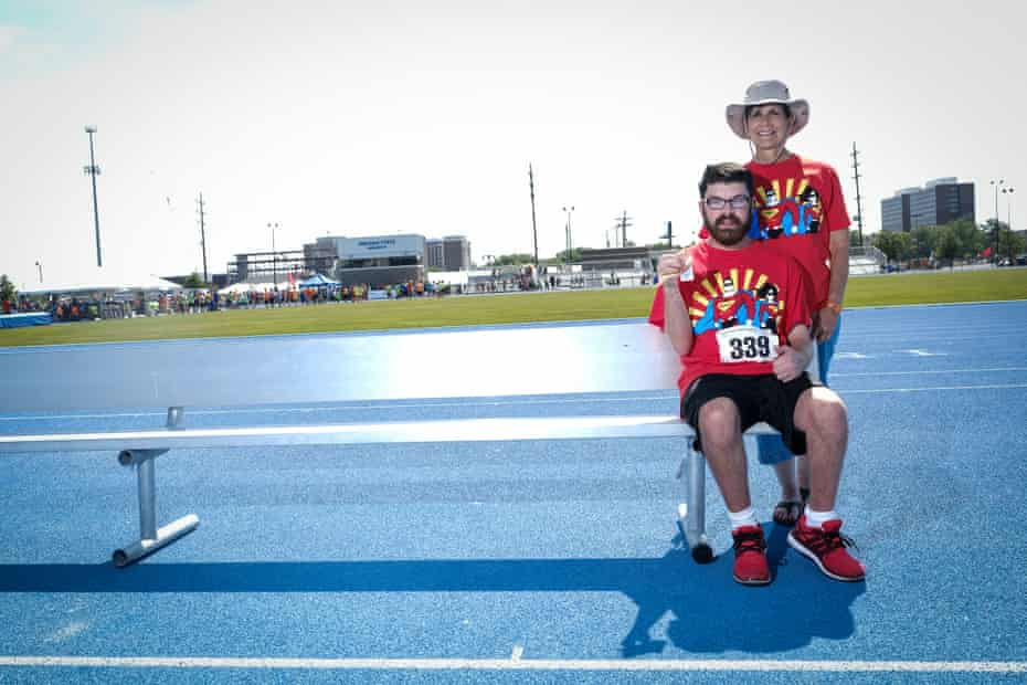 Diane Watson, right, poses for a portrait with her grandson Jordi Watson, showing off his 7th place ribbon.