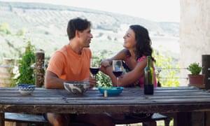 Couple having wineA3J7FW Couple having wine