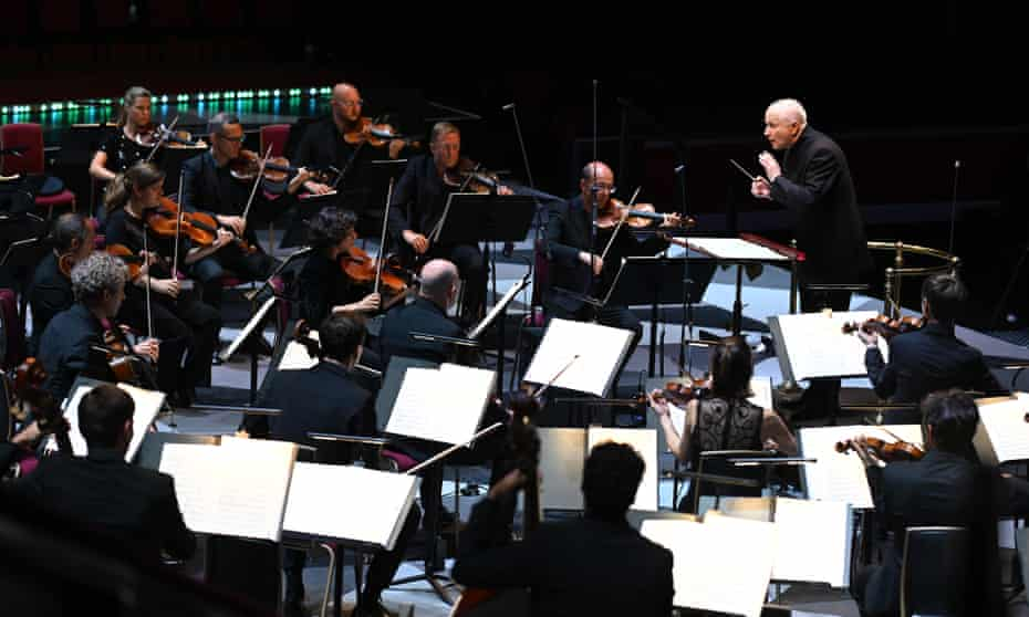 George Benjamin conducts the Mahler Chamber Orchestra at the Proms last week.