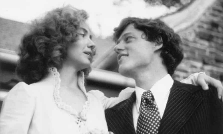 Adoring intensity … Hillary and Bill Clinton on their wedding day.