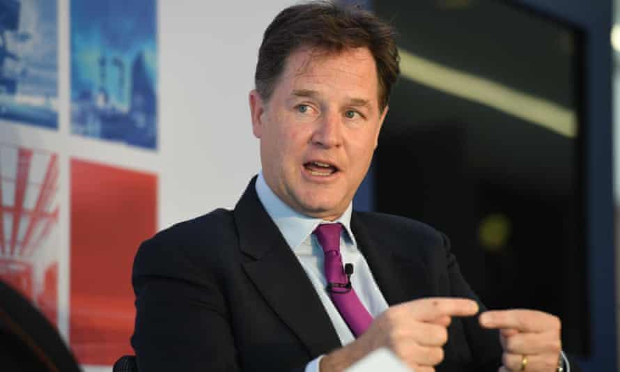 Facebook vice president Nick Clegg