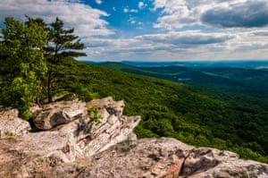 Annapolis Rocks, along the Appalachian Train on South Mountain, Maryland.