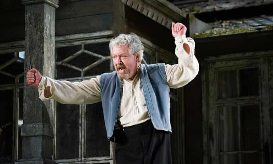 John Sessions in Longing by William Boyd at Hampstead theatre, 2013.