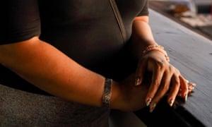Member of domestic violence awareness group