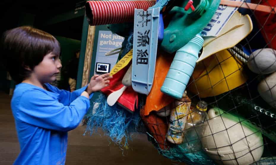 Tsunami debris from Japan on display at Vancouver Aquarium, Vancouver, Canada.