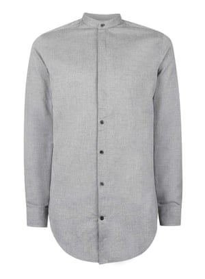 grey grandad men's shirt by Topman