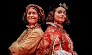 Nichole Bird as Tom and Danielle Bird as Edward in The Prince and the Pauper.