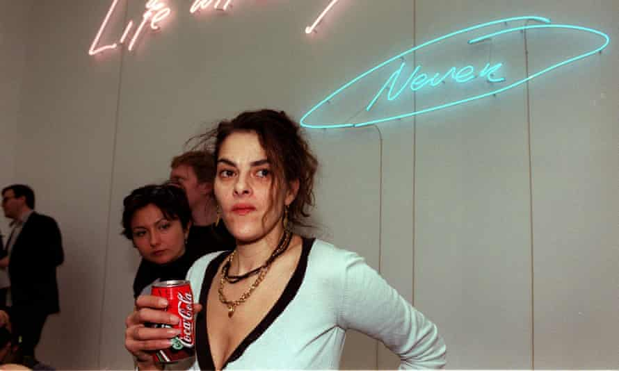 Tracey Emin at White Cube gallery in Hoxton.