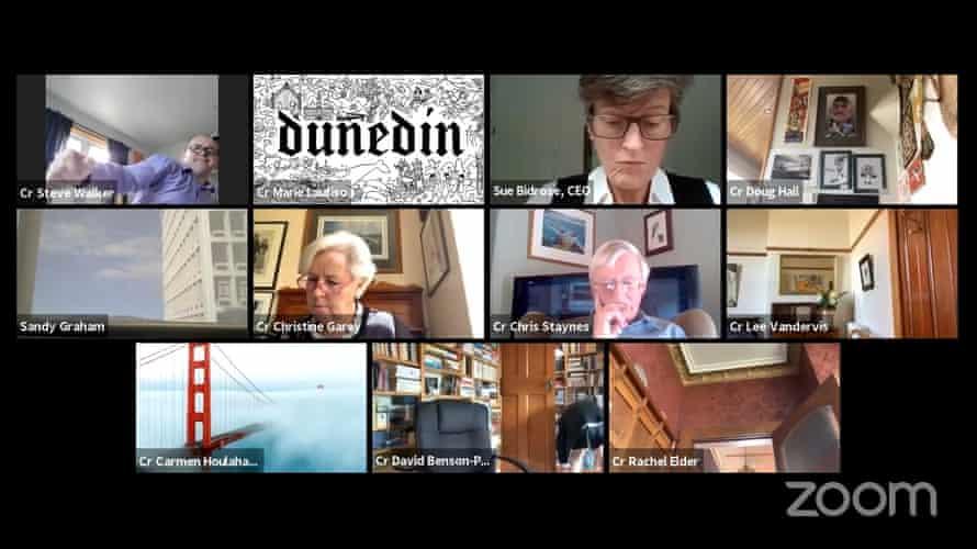 Dunedin city council's Monday Zoom meeting