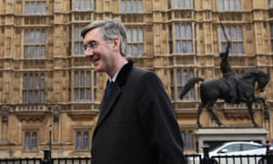 Jacob Rees-Mogg outside the Houses of Parliament