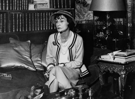 Coco Chanel in her apartment at the Hotel Ritz Paris, 1960.