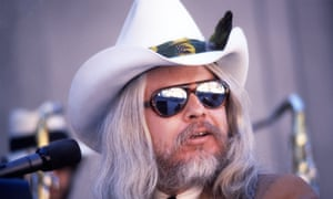 Leon Russell performing in Berkeley, California, in 1977.