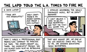 Ted Rall, former political cartoonist for the Los Angeles Times, tells his story visually.