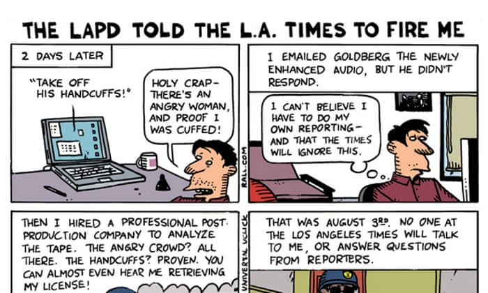 Cartoonist Fired By La Times After Lapd Arrest Says Evidence