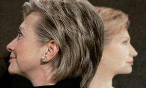Hillary Clinton, then a New York senator, stands by her portrait. Experts say the first female president would likely look like her: nationally recognized with an extensive resume.