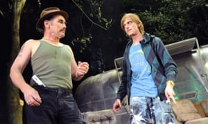Mark Rylance and Mackenzie Crook in Butterworth's Jerusalem at the Royal Court