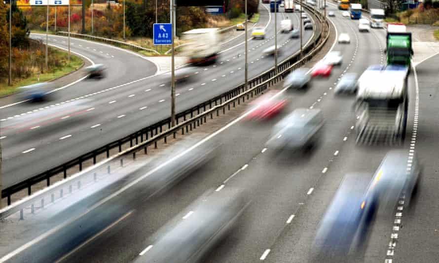 Traffic on a motorway.