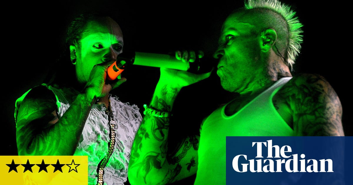 The Prodigy review – teeth rattled in dystopian breakbeat pantomime