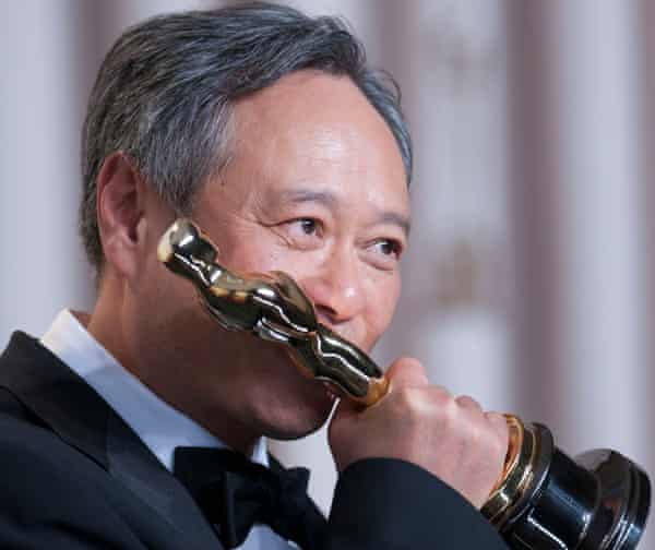 Ang Lee with his best director Oscar for Life of Pi at the 85th Academy Awards in 2013