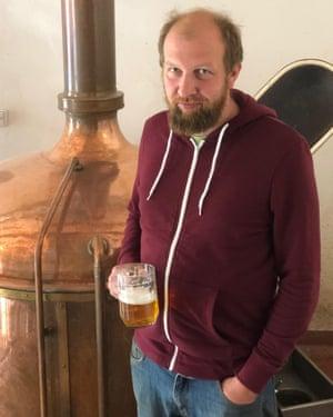 Petr Jakubicek, managing director of the Chříč Brewery.