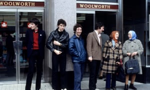 'The kind of songs that artists spend their whole careers striving towards' ... (L-R) John Maher, Pete Shelley, Steve Diggle and some Woolies shoppers.