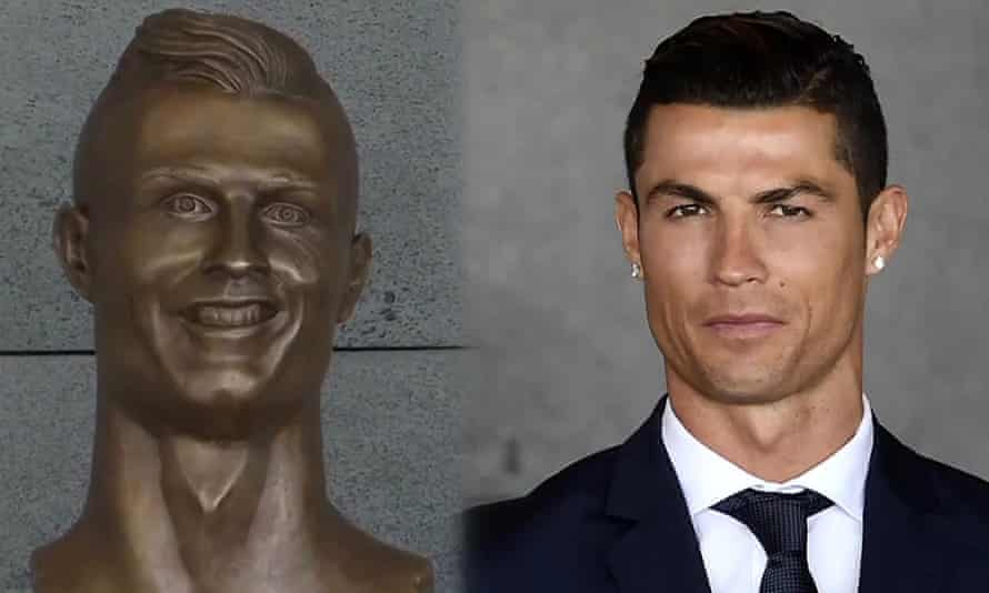 Ronaldo and his statue.