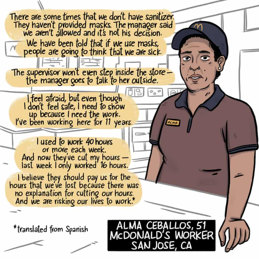 Alma Ceballos, McDonald's worker