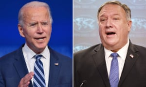 Joe Biden said Trump's repeated denial of the election results will 'not help his legacy', while Mike Pompeo insisted there will be a 'smooth transition' to a second Trump term.