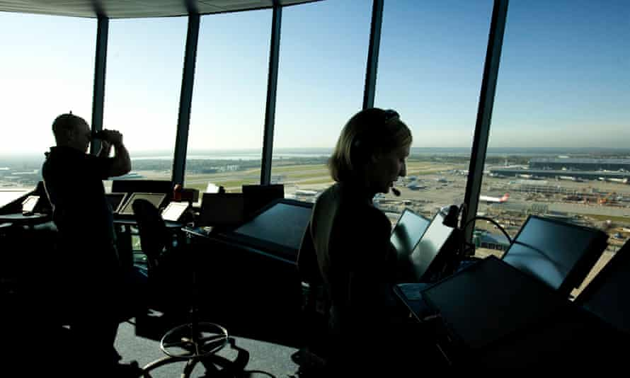 Air traffic control at Heathrow airport