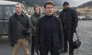 Simon Pegg, Rebecca Ferguson, Tom Cruise and Ving Rhames in Mission: Impossible – Fallout.