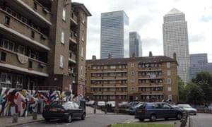 Homes in Tower Hamlets, east London, near to Canary Wharf.
