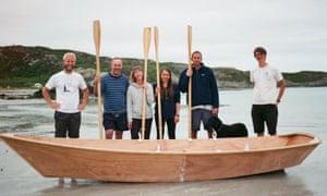 Boatbuilding on the beach at Archipelago Folkschool, Scotland
