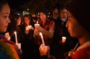 Sydney, Australia. A candlelit vigil in Newtown