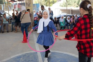 Children enjoy recreational activities in the Zarqa community educational centre, Zarqa, Jordan. 3/10/18
