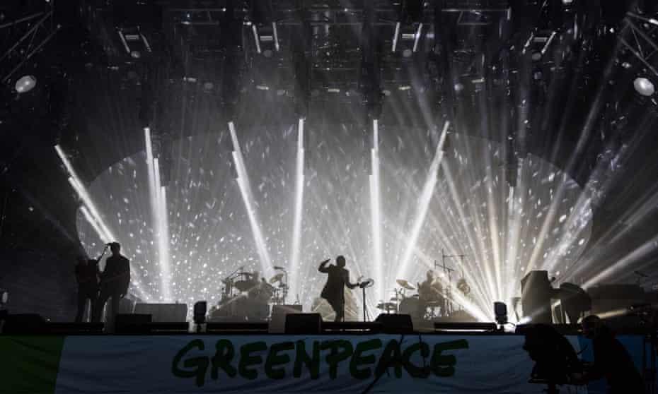 Radiohead at Glastonbury 2017.