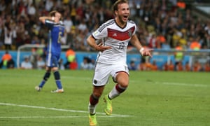 Götze celebrates his winning goal in the 2014 World Cup final