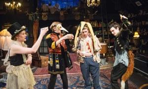 Zoe Boyle, Joshua James, Taron Egerton and Tom Sturridge in No Quarter by Polly Stenham.