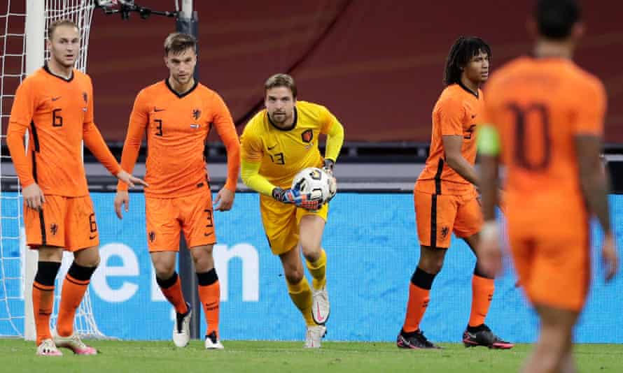 Tim Krul playing for the Netherlands against Mexico in Amsterdam last October.