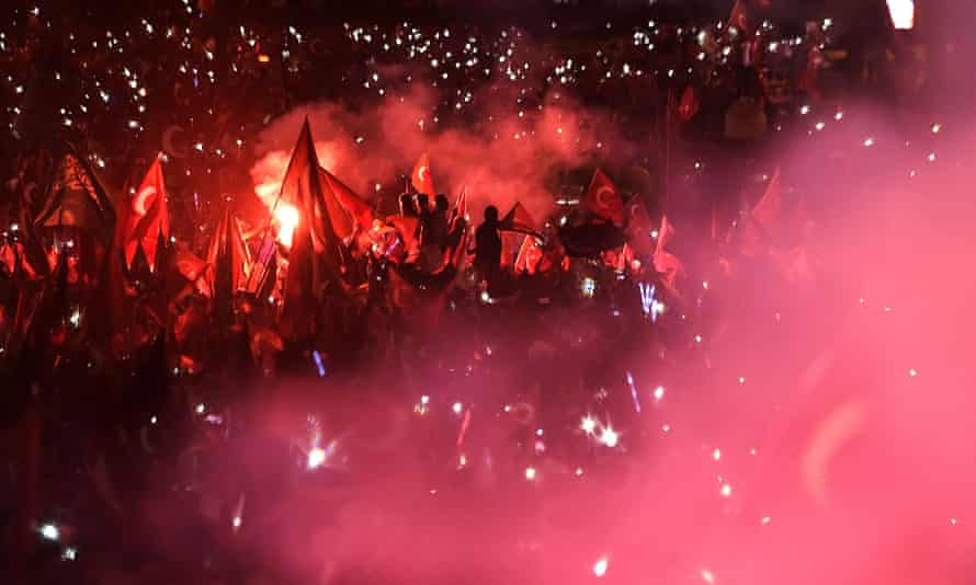 The first anniversary of failed coup in Istanbul, 2017.