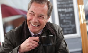 Nigel Farage's early success has come at the expense of the Tory party: the Brexit party leader in Sunderland on Saturday.
