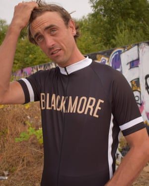 man in cycling top